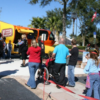 2005 Weinermobile at Shriners Hospital for Children